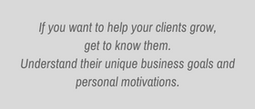 Get to know your clients